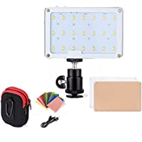 LED Video Light, SOKANI X21 Pocket-Sized Daylight OLED Screen Build-in 1600mAh Battery Lighting Video LED DSLR Sony, Nikon, Canon, iPhone, 21 Bulbs Great Video Vlogging Selfies