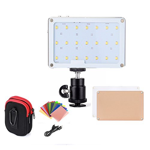 LED Video Light, SOKANI X21 Pocket-Sized Daylight OLED Screen Build-in 1600mAh Battery Lighting Video LED DSLR Sony, Nikon, Canon, iPhone, 21 Bulbs Great Video Vlogging Selfies by Sokani