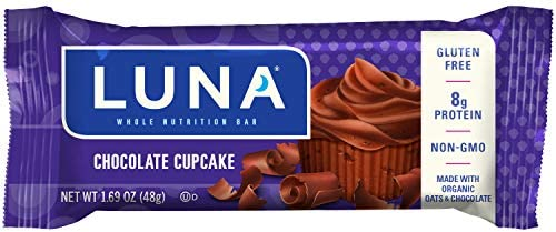 LUNA BAR – Gluten Free Bars – Chocolate Cupcake – 1.69 Ounce Snack Bars, 15 Count