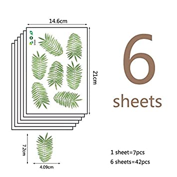 18 unids/set Cartoon Sapling Cute Wall Stickers Nursery Children ...
