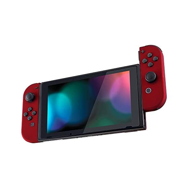 eXtremeRate Soft Touch Grip Red Joycon Handheld Controller Housing with Full Set Buttons, DIY Replacement Shell Case for Nintendo Switch Joy-Con – Console Shell NOT Included 4