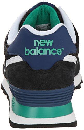 New Blue Sneaker Balance Uomo NBML574MON Black TrBwWqvyT