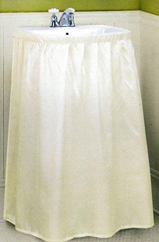 Better Home New Fabric Sink Skirt, Bone Beige (Fabric Pedestal)