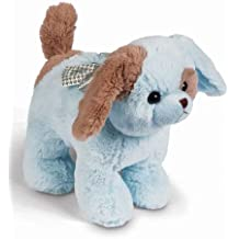 Bearington Waggles Blue Puppy Dog Piggy Bank with Noise 10""