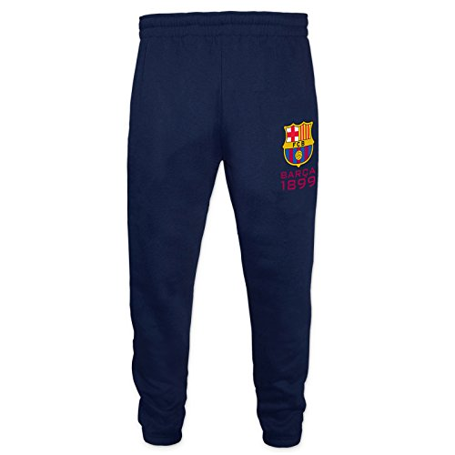 FC Barcelona Official Gift Boys Slim Fit Fleece Joggers Jog Pants Navy 6-7 ()