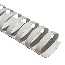 TruBind 1-3/4-Inch Oval Binding Combs, 44 mm - Pack of 50, White (COMB1304-WH)