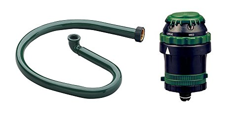H2o 6 Gear Drive (Orbit H2O-Six Gear Drive Sprinkler and Orbit Metal Ring Base Bundle )
