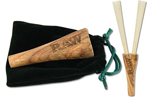Aut/éntico Raw doble barril tubo de tabaco de madera cigarrillos soporte UK libre P y p
