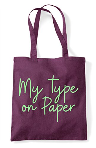 Hashtag Statement Type On My Shopper Bag Tote Paper Quote Plum ZngIwtwx4H
