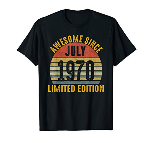 - Awesome July 1970 Limited Edition Gifts 49th Birthday Tshirt