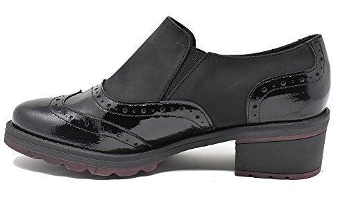 Modabella - Zapato de mujer fabricado en Piel nobuck y charol - 130/1145