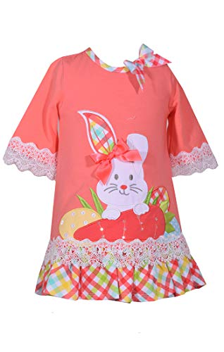Bonnie Jean Baby Toddler and Little Girl's Easter Dress with Bunny Applique (4T) ()