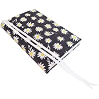 6 Inch Trade Size Paperback Book Cover 6x9 to 5.5x8.5, DAISIES Floral Stretch Fabric Book Sleeve for Paperback or Hardcover Books and Journals, Small Book Covers