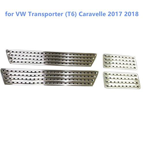 High Flying Int/érieur en acier inoxydable plaque de seuil de porte protection Seuil 4/pcs pour accessoire Auto Vwtp16