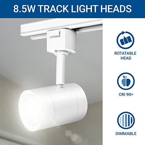 Hyperikon LED Track Head Lighting, H-Type Integrated Track Head Only, 8.5W (50W Equivalent), 4000K Daylight, 40° Beam, CRI90 - for Accent or Spot Lighting, Wall Art, Kitchen (4-Pack) by Hyperikon (Image #3)'