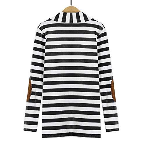 Casual Autumn Long Striped Patchwork Sleeve Women Black Outwear TUDUZ Cardigans xCpn6E