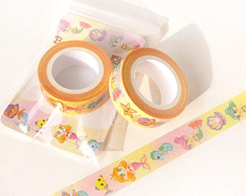 Mermaid Washi Tape. Planner Decoration. Kawaii Washi Tape. Cute Washi Tape. Masking Tape. Planner Supplies. Craft Tape. Anime Washi Tape.