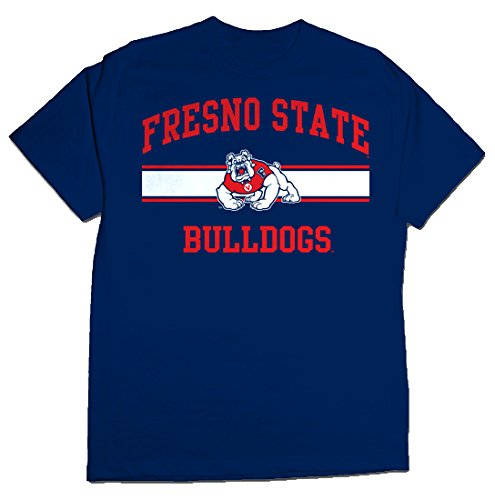 NCAA Fresno State Bulldogs Stormster Short Sleeve Tee, XX-Large, Navy