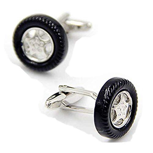 Black Car Truck Wheel Rim Tire Cufflinks (Rims Cufflinks)