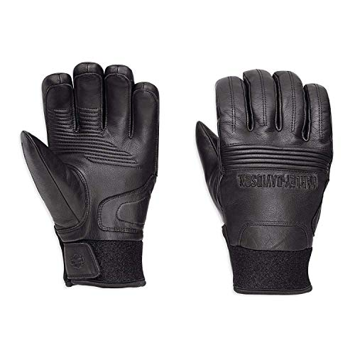 - Harley-Davidson Official Men's Cyrus Insulated Waterproof Gloves, Black