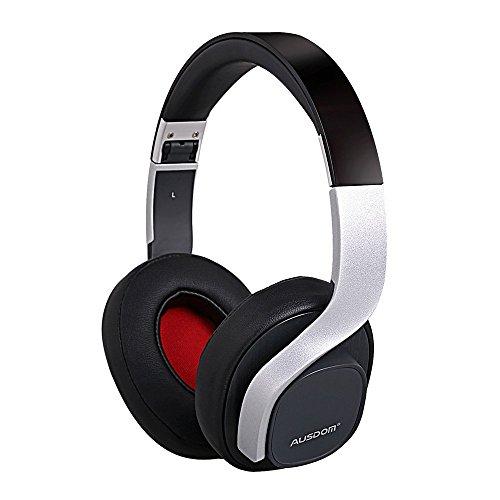 Ausdom M08 Wire/Wireless FashiAusdom M08 Wire/Wireless Fashion Foldable Bluetooth Headset Rich Bass with Built-in Microphone (Black+Silver)