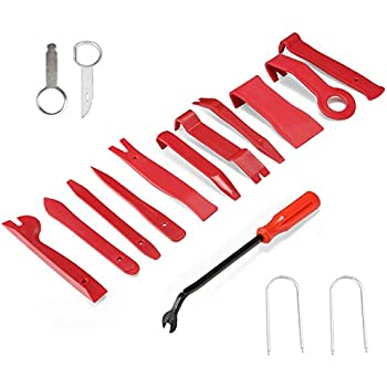 AphroD 16 Pcs Auto Trim Removal Tool Set with Fastener Removers Strong Nylon Door Panel Tool Kit