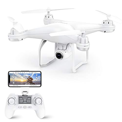 Potensic T25 GPS Drone, FPV RC Drone with Camera 1080P HD WiFi Live Video, Dual GPS Return Home, Quadcopter with Adjustable Wide-Angle Camera- Follow Me, Altitude Hold, Long Control Range, White (Best Cheap Quadcopter With Hd Camera)