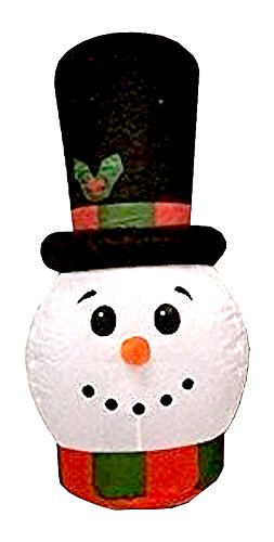 Homemade Snowman Costume (CHRISTMAS DECORATION LAWN YARD GARDEN INFLATABLE HOLIDAY SNOWMAN 3' TALL)