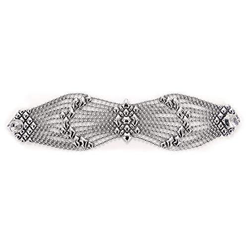 B77-AS Antique Silver Bracelet - Liquid Metal by Sergio Gutierrez (7.5)