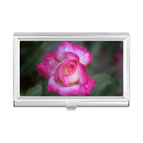 Pink Beautiful Flowers Petals Business Card Holder Case Wallet