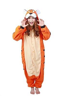 WOTOGOLD Animal Cosplay Costume Unisex Adult Bengal Tiger Pajamas