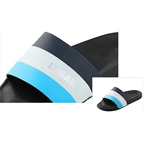 XIAOLIN Zapatillas y zapatillas de hombre de colores mixtos Zapatillas de casa antideslizantes Sandalias y zapatos de playa Versión coreana (dos colores para elegir) (Tamaño opcional) ( Color : 01 , T 01