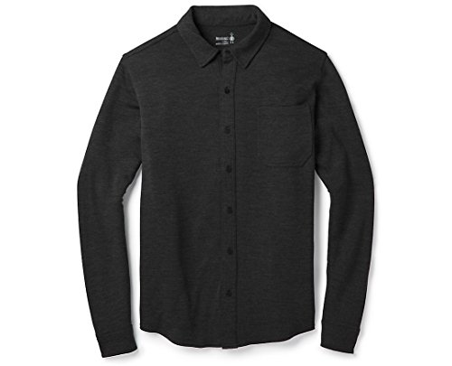 SmartWool Men's Merino 250 Button Down Long Sleeve Shirt Charcoal Heather Small