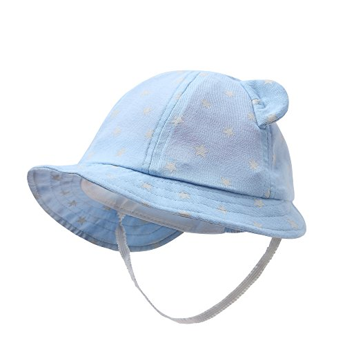 vivobiniya Newborn Boy Summer Hats Baby Sun Hats Little BearToddler Hat 0-12M (0-3M)