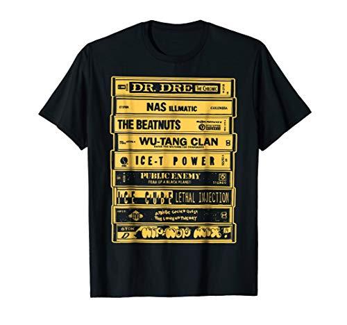 (Hip Hop Artists Cassettes T-Shirt - Old School Rap Tee)