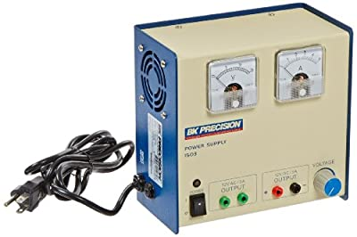 B&K Precision 1503 Dual-Output Linear Power Supply, Analog Display, 12VAC, 12VDC, 5 Amp