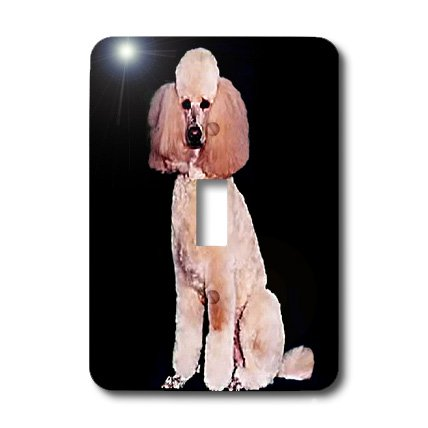 lsp_255_1 Dogs Poodle - Pink Poodle - Light Switch Covers - single toggle switch