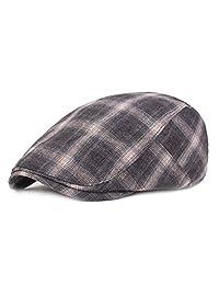 ad5d0ad5b9a43 RICHTOER Summer Newsboy Ivy Cap Women Men's Flat Cap Plaid Beret Cabbie  Hunting Hat