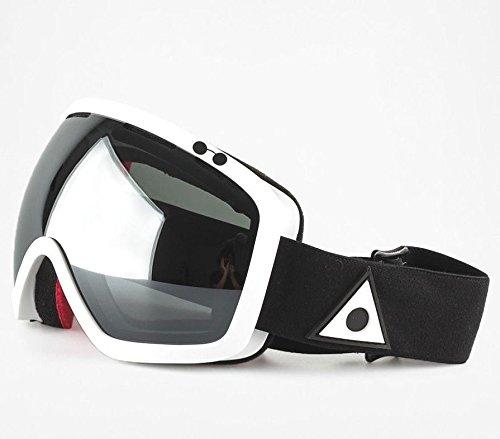 Ashbury Bullet Goggles White/Silver Mirror Lens - Ski Ashbury
