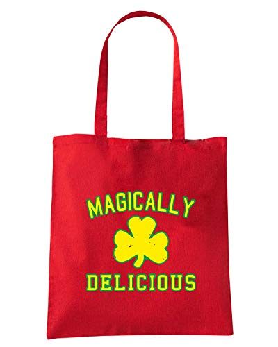Speed Shirt Borsa Shopper Rossa TIR0145 MAGICALLY DELICIOUS