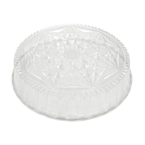Pactiv P4418 Round CaterWare Dome-Style Food Container Lids, 1 Compartment, Clear, 18'' Diameter (Case of 50) by Pactiv