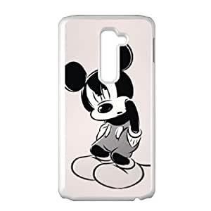 LG G2 Cell Phone Case White Mikey Mouse S7U5MR