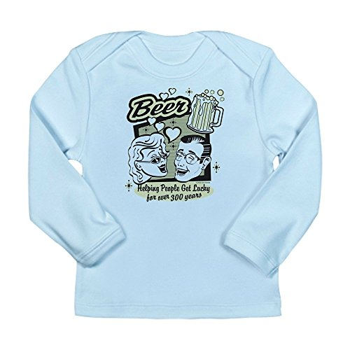 Truly Teague Long Sleeve Infant T-Shirt Beer: Helping People Get Lucky - Sky Blue, 6 To 12 Months ()