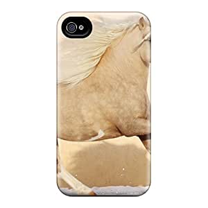 First-class Case Cover For Iphone 4/4s Dual Protection Cover Pretty Horse Running