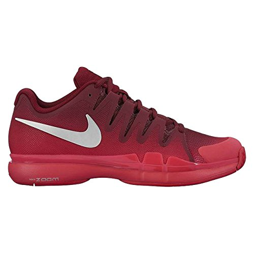Nike Womens Zoom Vapor 9 5 Tour Tennis Shoe  U S  Open 2016 Colors   8  Team Red Metallic Silver