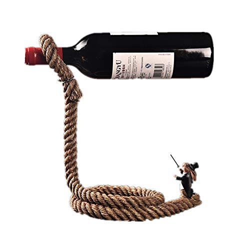 FZG Rabbit Magician Rope Wine Rack-2815.5cm Color Brass