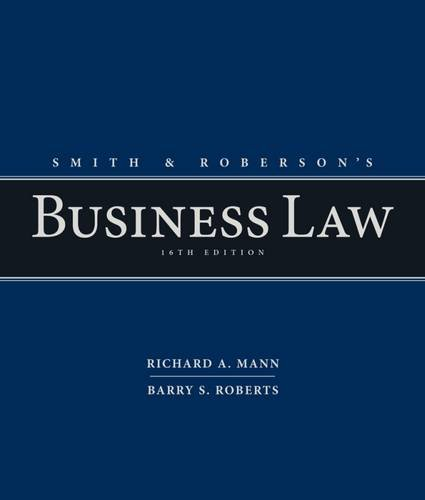 Smith+Roberson's Business Law
