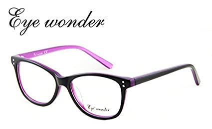 065d4b154f Image Unavailable. Image not available for. Colour  Generic Col 02   Eye  wonder Women Vintage Glasses Frames Designer ...