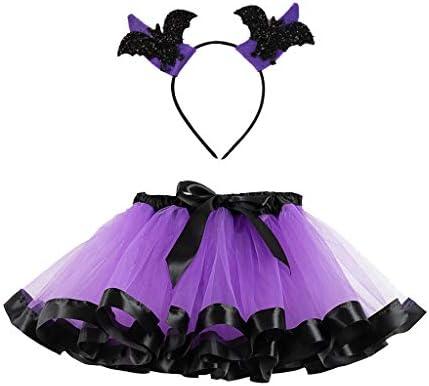 Riou - Falda de tutú para niña, Disfraz de Halloween, Carnaval ...