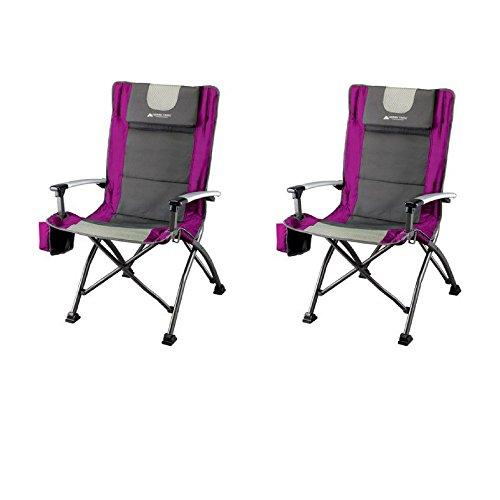 Ozark Trail Ultra High Back Folding Quad Camp Chair Fuchsia (Two Chairs)